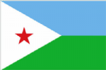 Djibouti Large Country Flag - 3' x 2'.